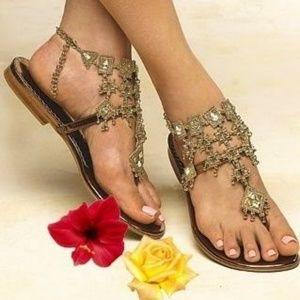 Colin Stuart Gold Sandals